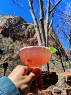 Margarita at Red Rock Grill Zion Lodge Zion National Park Utah 2