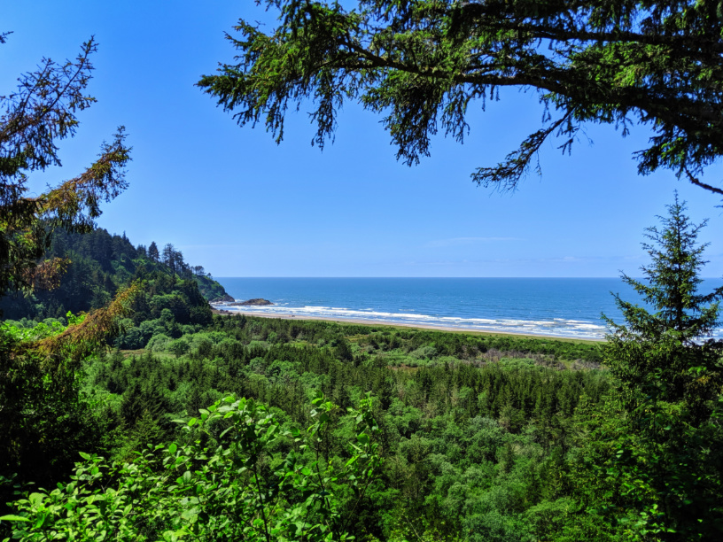 McKenzie Head land formation at Cape Disappointment State