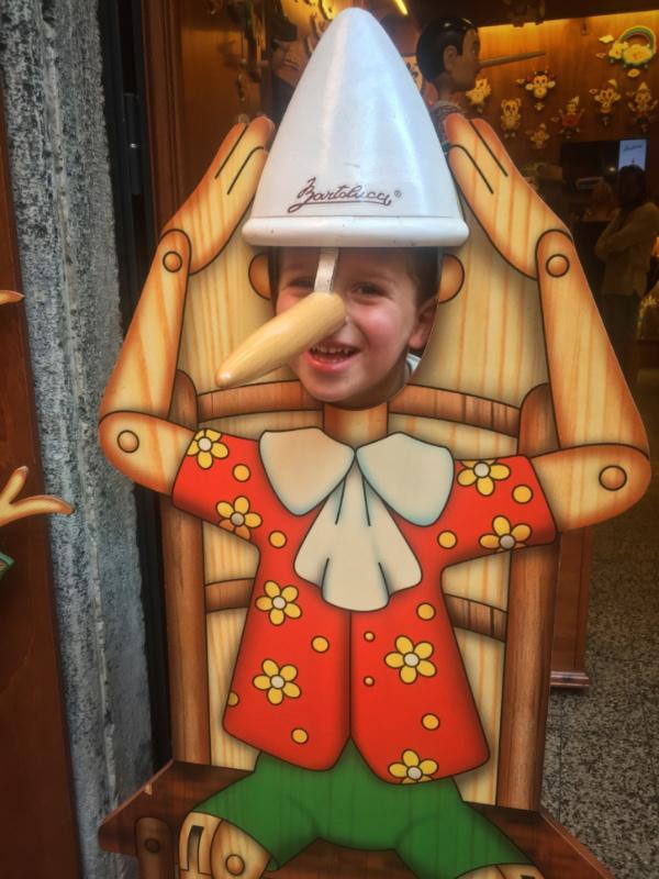 Milo in Pinocchio Face cutout Rome Italy 1