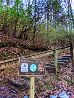 Minnehaha Falls Trail head North Georgia 1