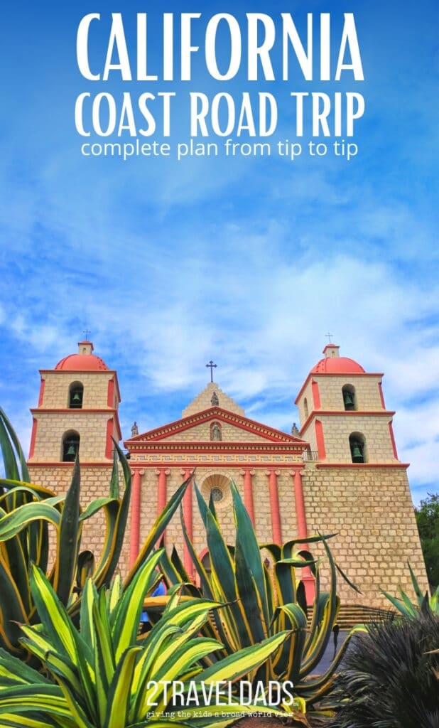 MIssion Santa Barbara is a beautiful stop along a California Coast road trip. Gardens and history add context to the California experience. #california
