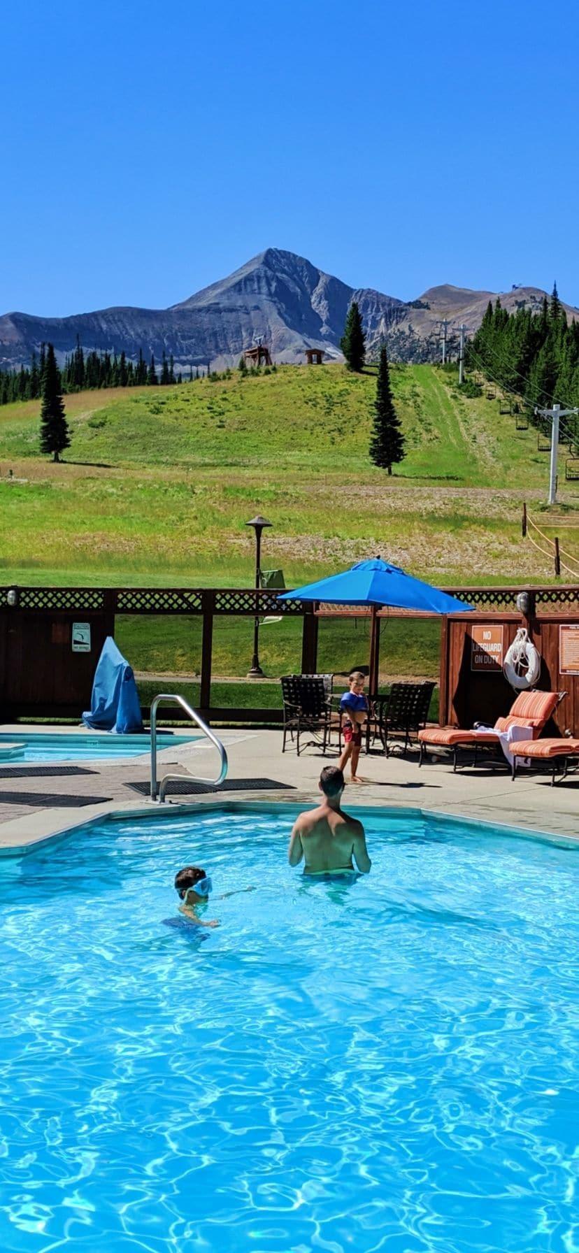 Mountain View Swimming Pool at Big Sky Resort Big Sky Montana