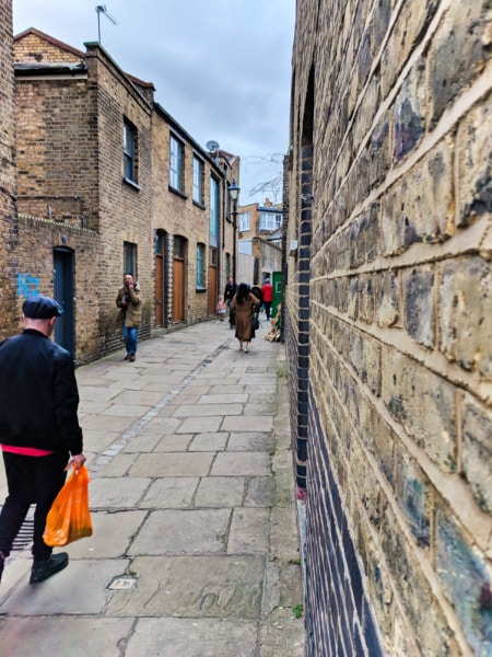 Narrow Street on Jack the Ripper Tour in Shoreditch East London 7