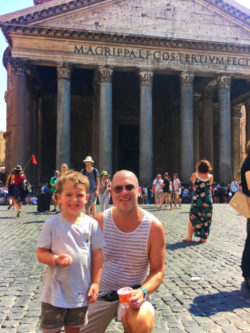 Nelson Barone Family at Pantheon in Rome Italy 2