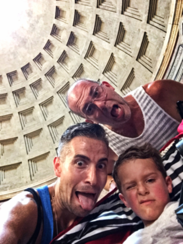 Nelson Barone Family at Pantheon in Rome Italy 3