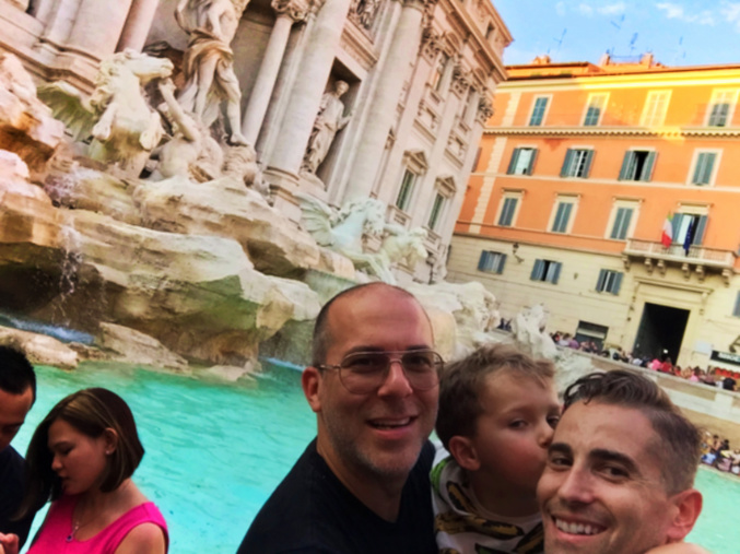Nelson Barone Family at Trevi Fountain Rome Italy 2