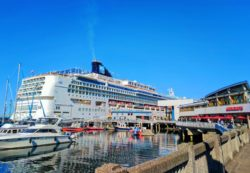 Norwegian Cruise Line ship at Pier 66 Seattle Waterfront 1
