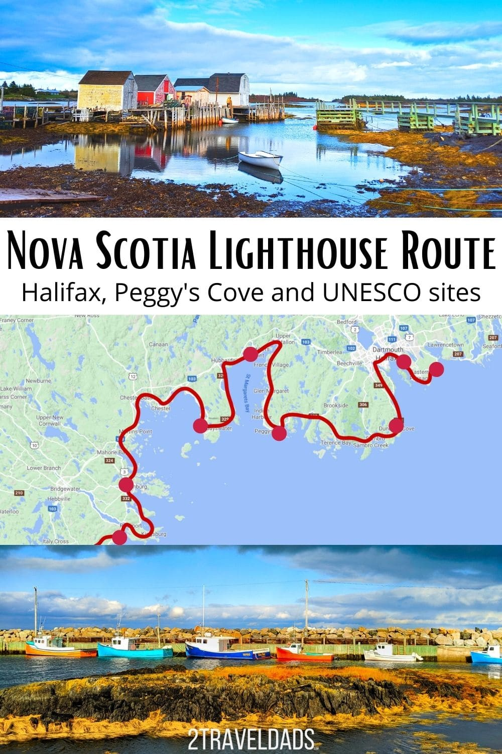 The best fall road trip we've done to date has been around Nova Scotia, and particularly the south shore along the Nova Scotia Lighthouse Route. Colorful towns and epic coastal wilderness make it unique and gorgeous.