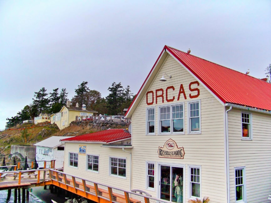 Orcas Island Ferry Buildings San Juan Islands Washington 1