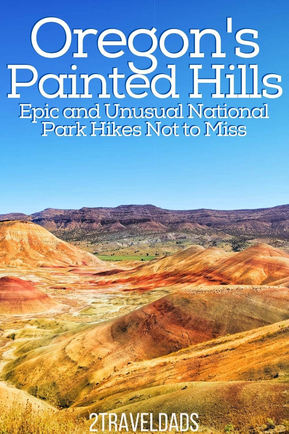 Oregon's Painted Hills are a unique natural wonder. See how to get there, when to visit, where to stay, and hiking trails at John Day Fossil Beds National Monument. Most incredible National Park in Oregon.