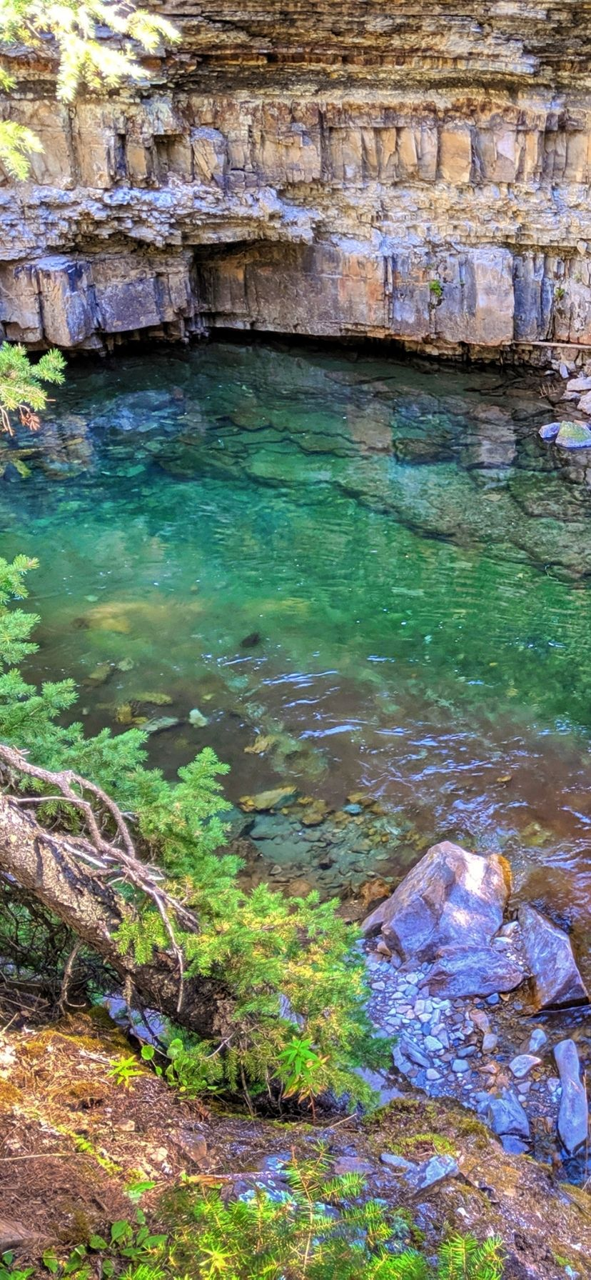 Ousel Falls Hiking Trails with Waterfalls in Big Sky Montana
