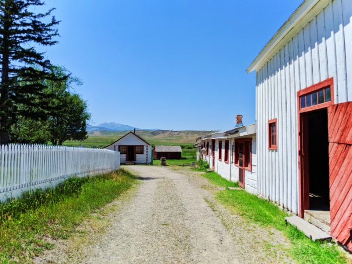 Out buildings at Grant Kohrs Ranch NHS Deer Lodge Montana 1