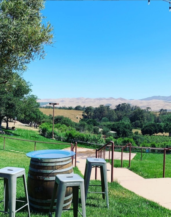 Outdoor Tasting Space at Cottonwood Canyon Winery Santa Maria Valley CA