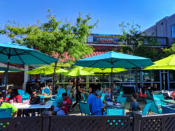 Outdoor dining at Port of Rochester on Lake Ontario Rochester New York 1