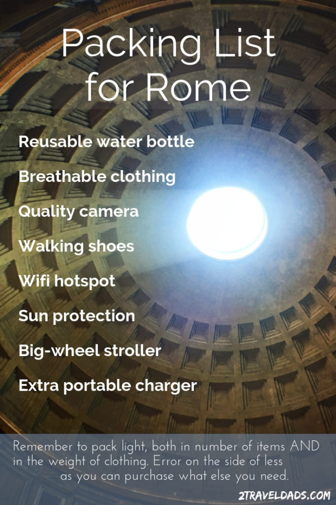 Packing List for Rome pin