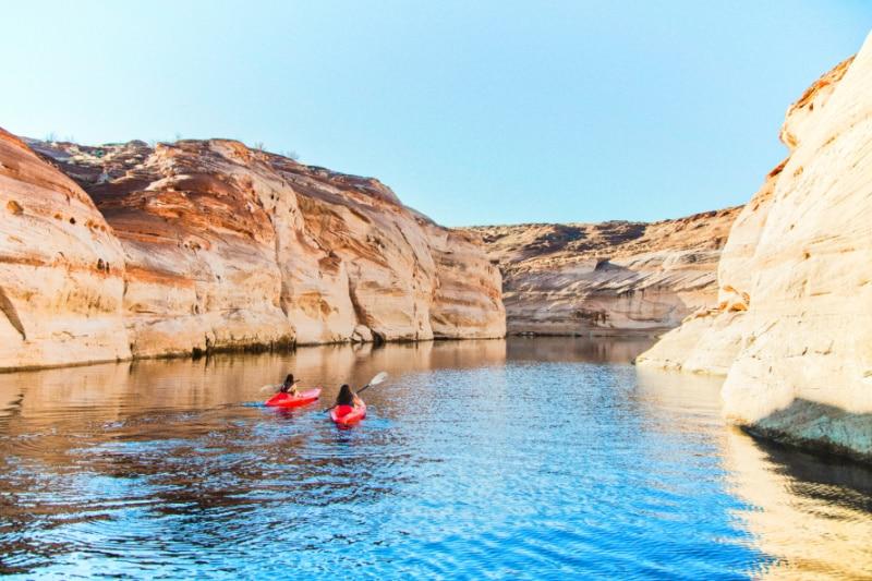 Kayaking on Lake Powell, Page AZ