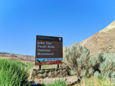 Painted Hills NPS Sign at John Day Fossil Beds NM Dayville Oregon 1