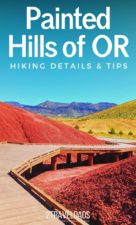Hiking in the Painted Hills is an Oregon bucket list activity. Beautiful trails through the most colorful landscapes. A National Park site, the Painted Hills is one of the Seven Wonders of Oregon. Get maps, photography tips and hiking trail ideas for a one-of-a-kind destination. #Oregon #hiking #nationalpark
