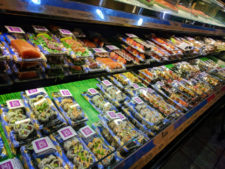 Plastic Packaging on sushi at grocery store 1