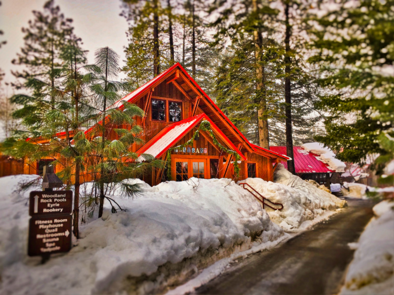 Play Barn in Snow at Sleeping Lady Resort Leavenworth WA 5b