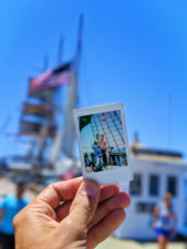 Polaroid on Taylor Family at Maritime Museum Waterfront San Diego California 1