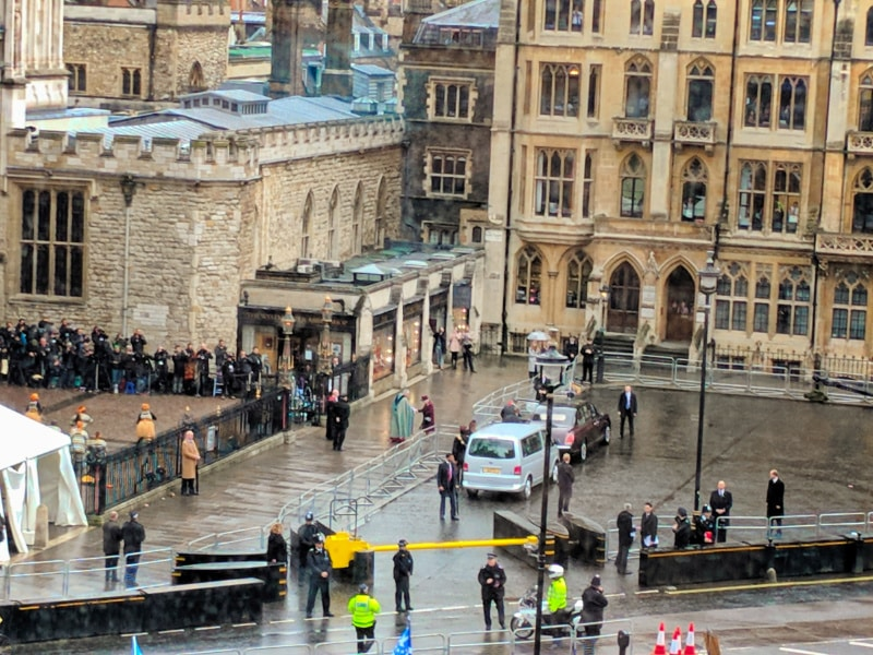 Queen Elizabeth II arriving at Westminster Abbey London 3
