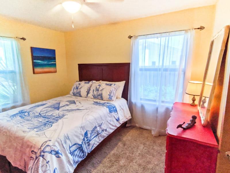Queen Room at Buccaneer Bungalow Butler Beach Saint Augustine Florida Vacation Rental 3