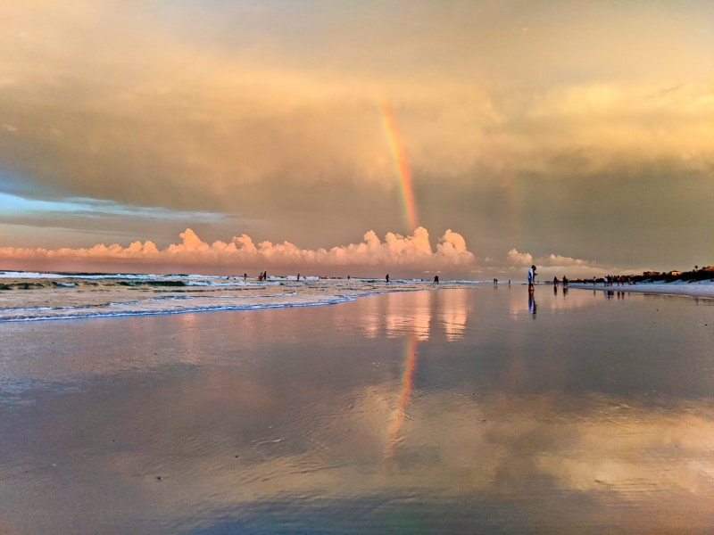 Rainbow at Crescent Beach Saint Augustine Florida 2020 1