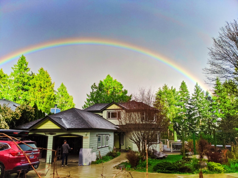 Rainbow over Suquamish House 1