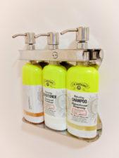Refillable shampoo dispenser at hotel Jacksonville FL 1