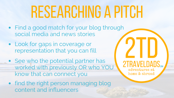 Research is the first part of understanding how to pitch.