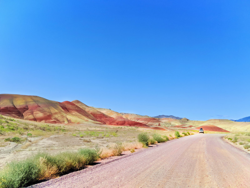 Road Driving into Painted Hills John Day Fossil Beds NM Oregon 4b