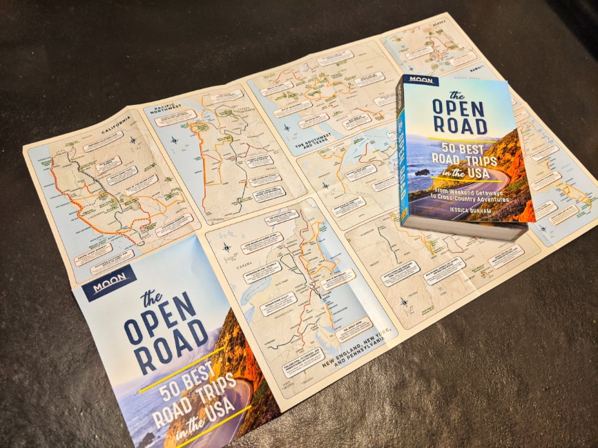 Road Trip Map from Moon Guides Open Road Best USA Road Trips 1