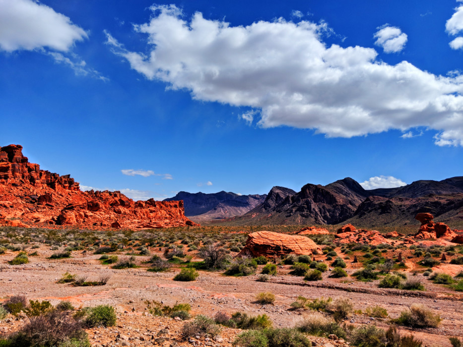 Road into Valley of Fire State Park Las Vegas Nevada 2