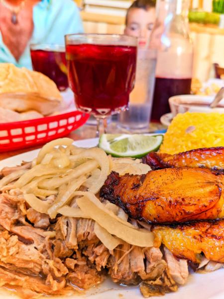 Roasted Pork and Maduros at El Siboney Cuban Restaurant Key West Florida Keys 2021 2