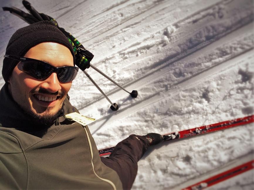 Rob Taylor Cross Country Skiing at Sleeping Lady Resort Leavenworth WA 1