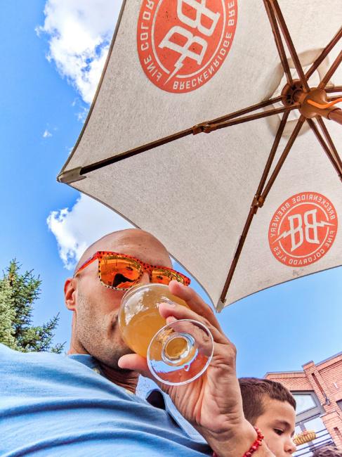 Rob Taylor Drinking Hazy IPA at Breckenridge Brewery Colorado 1