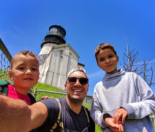 Rob Taylor Family at Lighthouse at Cape Disappointment State Park Ilwaco Washington 4