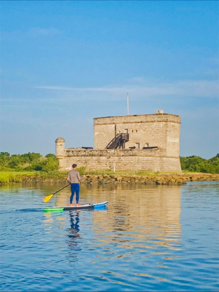 Rob Taylor SUP at Fort Matanzas National Monument Saint Augustine Florida 2020 2