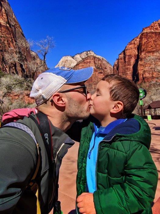 Rob Taylor and son at Zion National Park Utah 1