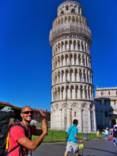 Rob Taylor at Leaning Tower of Pisa and Santa Maria Assunta Pisa Italy 1