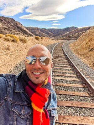 Rob Taylor on V&T Railway Tracks Rail Biking Carson City Nevada 2020 1