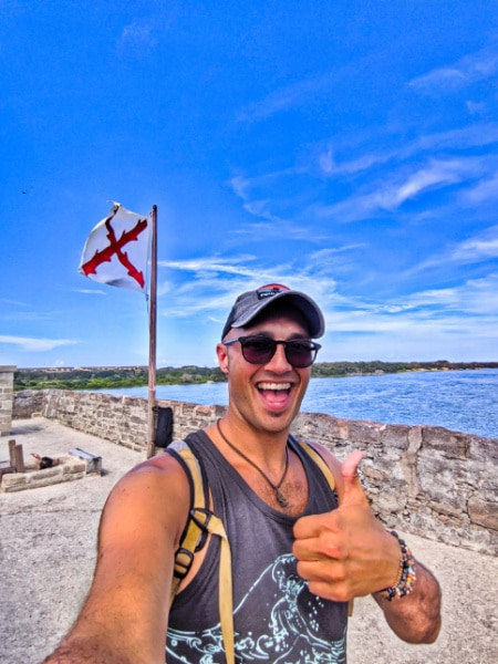 Rob Taylor on top of Fort Matanzas National Monumnent St Augustine Florida 2