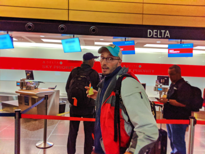 Rob Taylor with Delta AMEX at SeaTac airport 1
