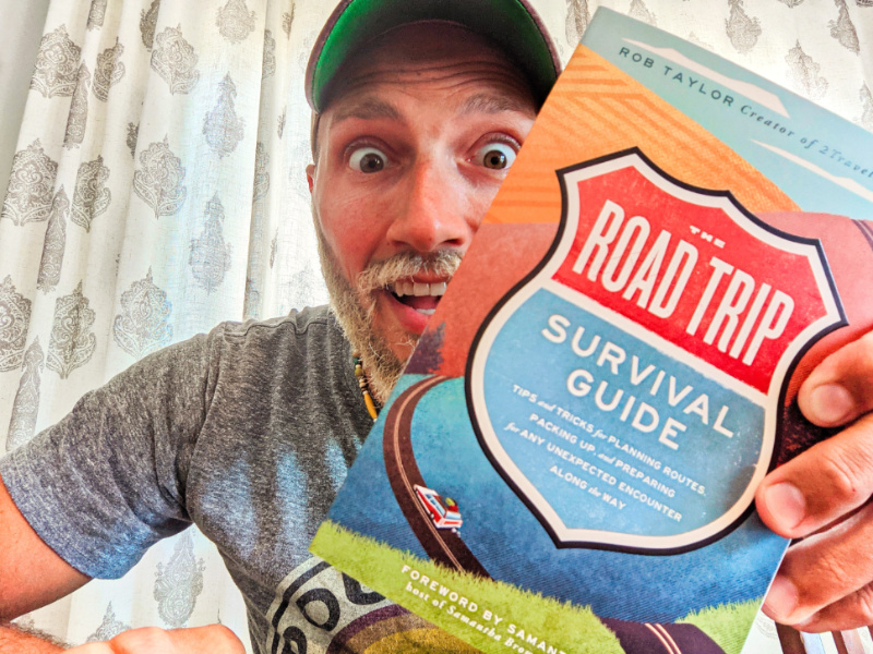 Rob Taylor with Road Trip Survival Guide 2021 6
