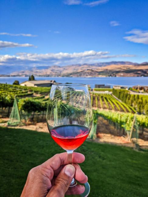 Rose Wine Tasting at Nefarious Cellars Lake Chelan Washington 1