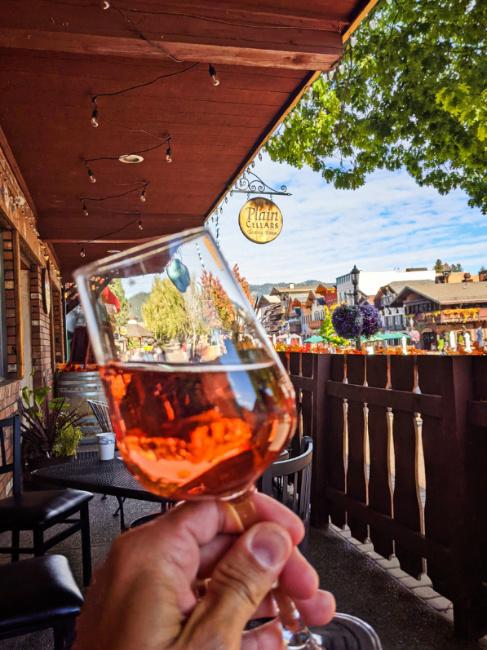 Rose Wine Tasting at Plain Cellars Downtown Leavenworth Washington 1