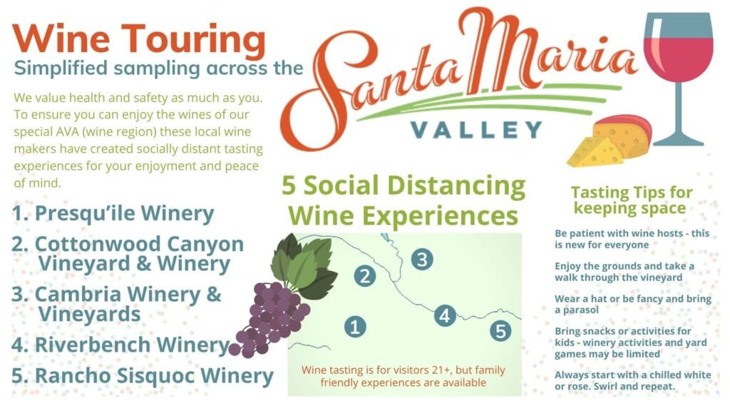 Wine tasting and social distancing are very possible in the Santa Maria Valley. These winemakers have set up special wine country experiences to ensure visitors can continue to enjoy Santa Barbara County wines.
