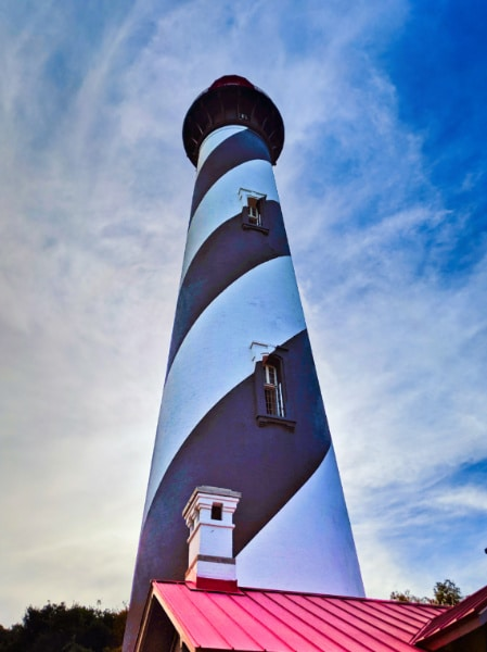 Saint Augustine Lighthouse from base St Augustine Beach Florida 1