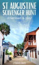 Download this scavenger hunt to guide your through historic Saint Augustine, Florida - America's Oldest City. 22 unique sights to find in the historic downtown core.